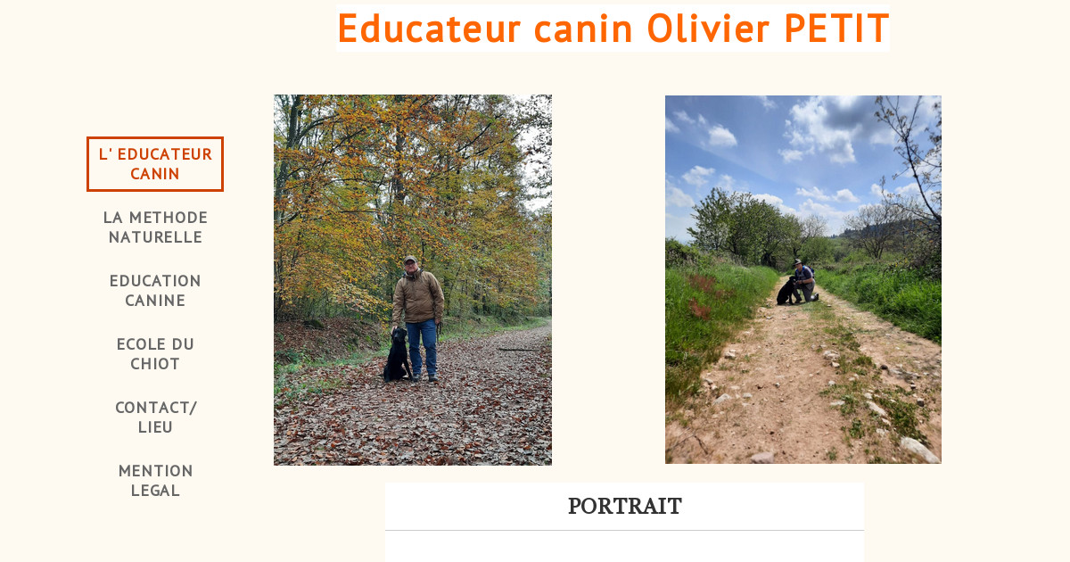 Educateur canin Olivier PETIT - EDUCATION